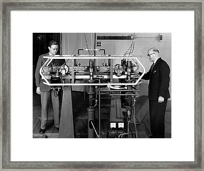 Caesium Atomic Clock, 1956 Framed Print by National Physical Laboratory (c) Crown Copyright