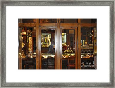Cafe At Night In Seville Spain Framed Print