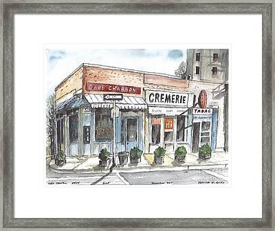Cafe Charbon Nyc Framed Print