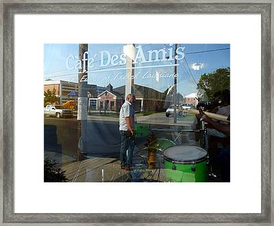 Cafe Des Amis Framed Print by Rdr Creative