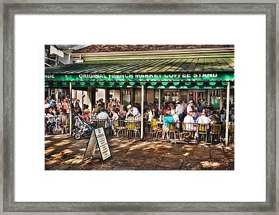 Cafe Du Monde Framed Print by Brenda Bryant