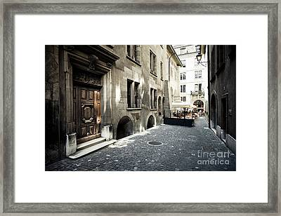 Cafe Geneve Framed Print