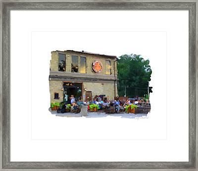 Cafe Hollander Framed Print by Geoff Strehlow