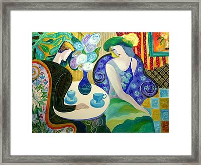 Romance Framed Print by Leon Zernitsky