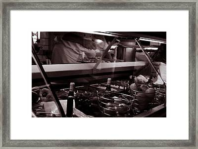 Cafe Framed Print by Kevin Duke