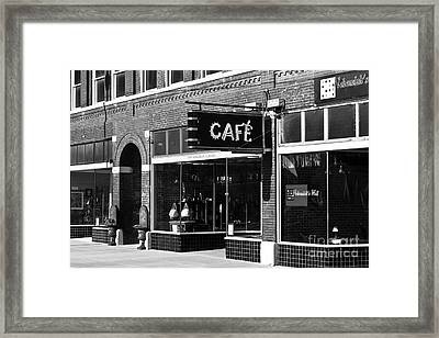 Framed Print featuring the photograph Cafe by Lawrence Burry