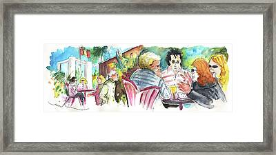 Cafe Life In Spain 03 Framed Print by Miki De Goodaboom