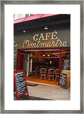 Cafe Montmartre Framed Print by Bob and Nancy Kendrick