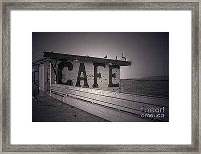 Cafe On The Pier Framed Print