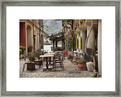 Cafe San Guilio II Framed Print by Sharon Foster