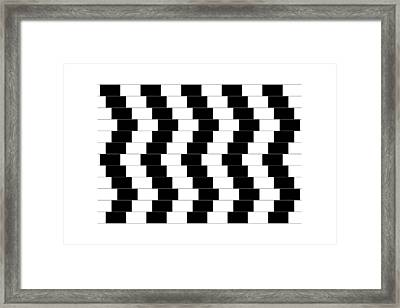 Cafe Wall Illusion Framed Print