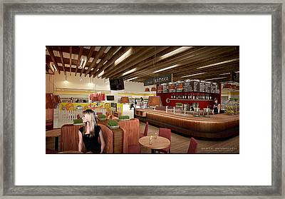 Cafe Framed Print by White Mammoth