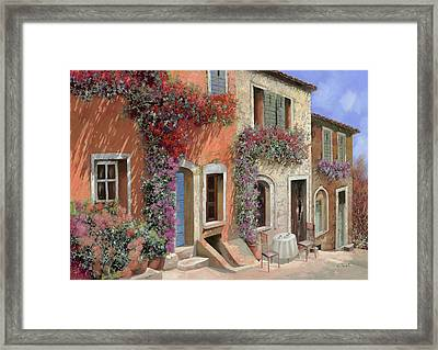 Caffe Sulla Discesa Framed Print by Guido Borelli