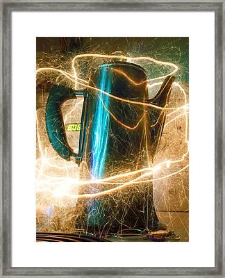 Caffeine Jolt Framed Print by Barbara  White