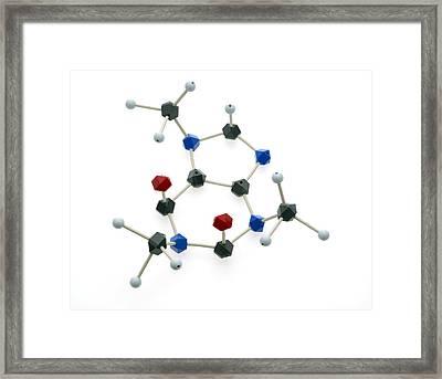 Caffeine Molecule Framed Print by Lawrence Lawry