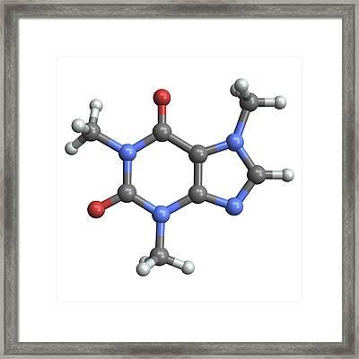 Caffeine Molecule Framed Print by Pasieka