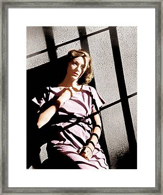 Caged, Eleanor Parker, 1950 Framed Print by Everett