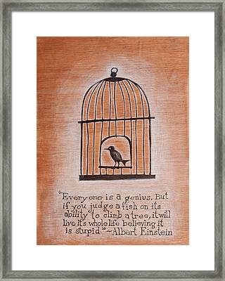Caged Genius Framed Print by Canis Canon