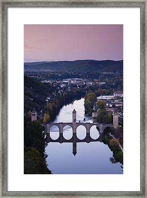 Cahors, Pont Valentre, Midieval Bridge Framed Print by Walter Bibikow