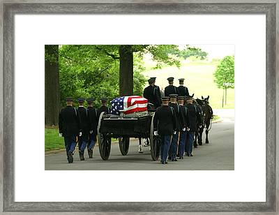 Caisson And Honor Guard On The Way Framed Print