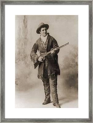 Calamity Jane 1852-1903, In A Studio Framed Print