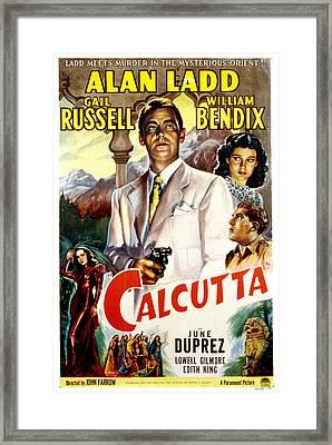 Calcutta, Alan Ladd, Gail Russell Framed Print