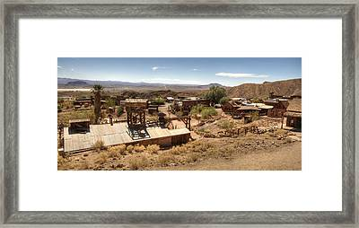Calico Ghost Town 2 Framed Print by Jessica Velasco