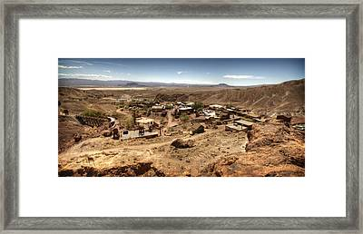 Calico Ghost Town 4 Framed Print by Jessica Velasco