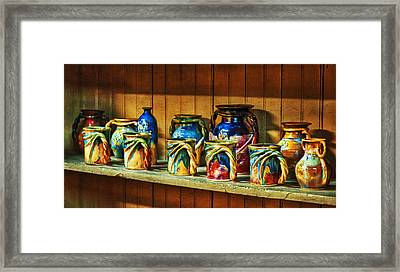 Calico Pottery Framed Print