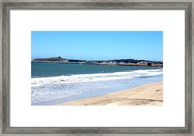 California Beach At El Granada Framed Print by Carolyn Donnell