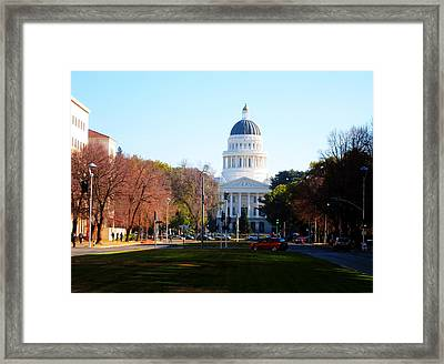 California Capitol Building-3 Framed Print by Barry Jones