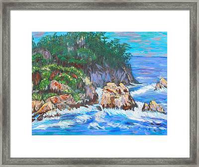 California Coast Framed Print by Carolyn Donnell