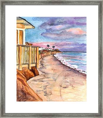 Framed Print featuring the painting California Coast by Clara Sue Beym