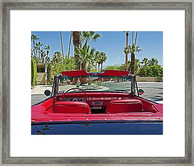 Framed Print featuring the photograph California Cruisin' by Cheri Randolph