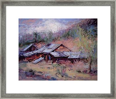 California Ghost Town Framed Print by R W Goetting
