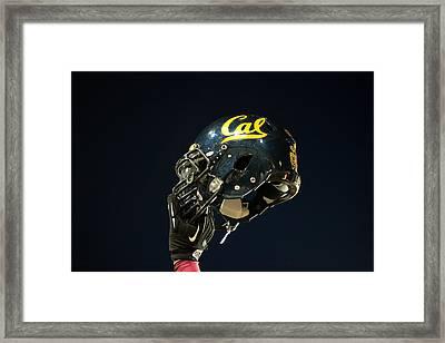 California Golden Bears Helmet Framed Print