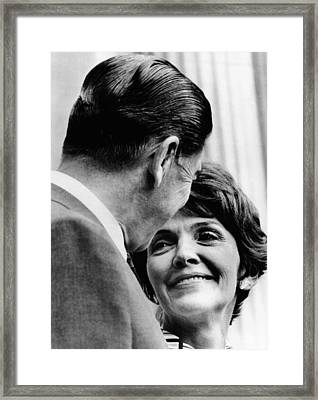 California Gov. Ronald And Nancy Reagan Framed Print by Everett