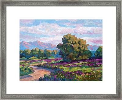 California Hills - Plein Air Framed Print