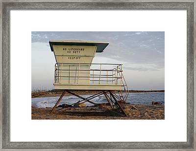 California Lifeguard Tower Framed Print by Maureen Bates