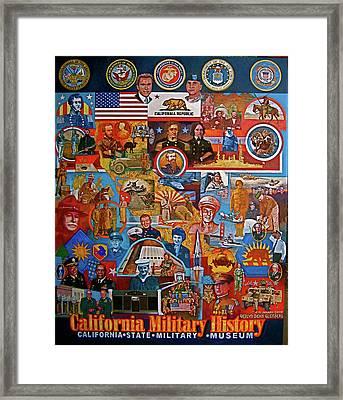 California Military History Mural Upgrade Framed Print by Dean Gleisberg