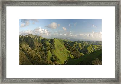 Framed Print featuring the photograph California Mountains Dreaming by Gregory Scott