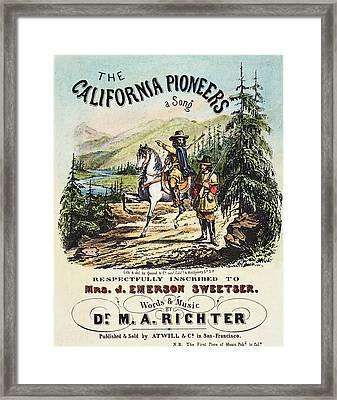 California Pioneers, C1850 Framed Print