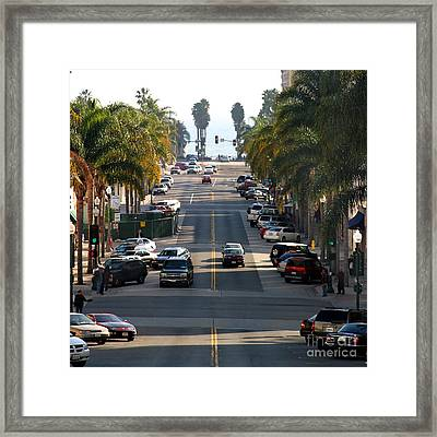 California Street Framed Print