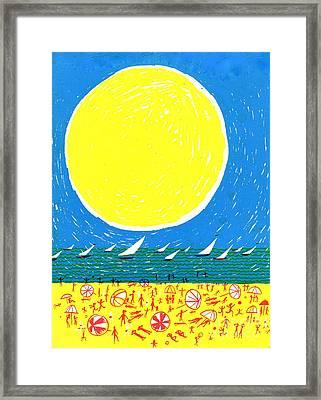 California Sun Framed Print by Donovan OMalley