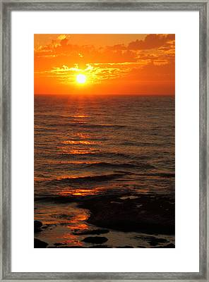 California Sunset Framed Print by Coby Cooper