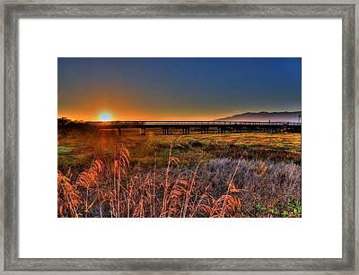 Framed Print featuring the photograph California Sunset by Marta Cavazos-Hernandez