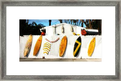 California Surf Shack Framed Print