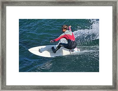 California Surfer Framed Print by Brendan Reals