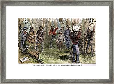 California Vigilantes Framed Print