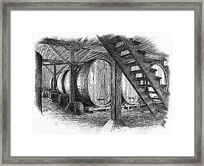 California: Winery, C1890 Framed Print by Granger